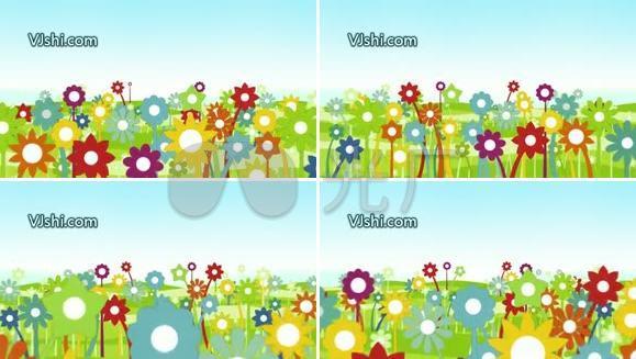 花儿朵朵 儿童节 可爱 卡通
