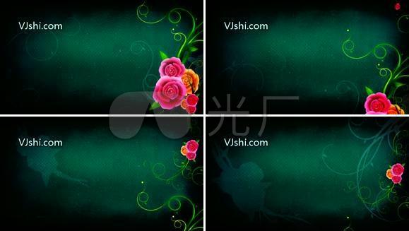 古典中国风 花纹 生长 花朵
