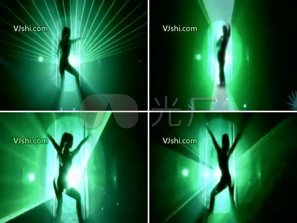 绿色 女 激光