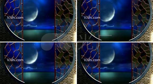 海上升明月窗外明月
