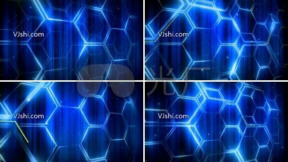 蓝色的网状