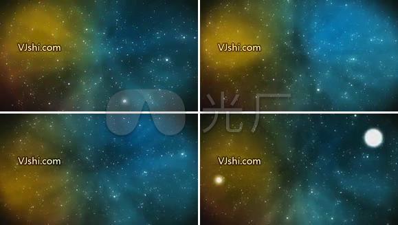 星空背景 太空 一号粒子视频