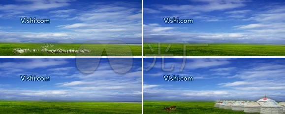 蓝色的蒙古草原 蒙古包 西藏 青藏高原