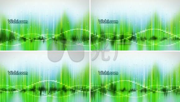电波绿色背景