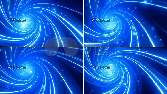 唯美漩涡 蓝色粒子