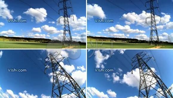 输电网 电塔 电线 电力