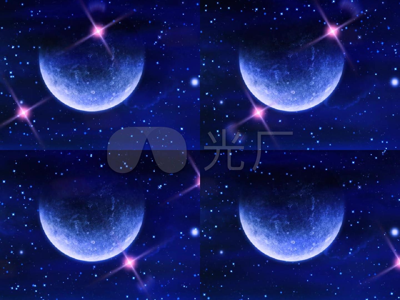 浪漫唯美星空背景 月球 月亮
