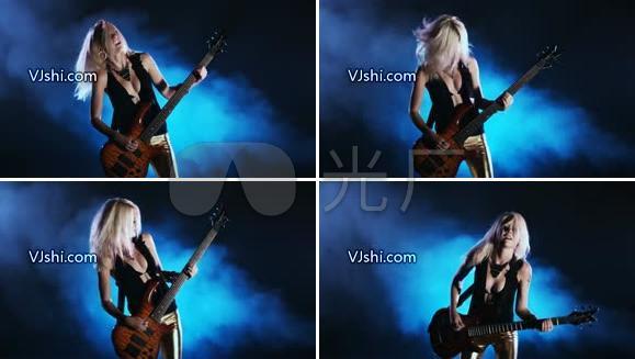 女歌手 电吉他 演唱