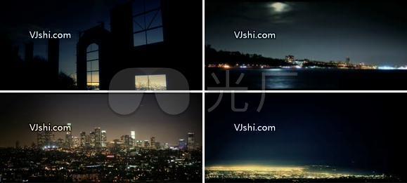 唯美的城市夜景
