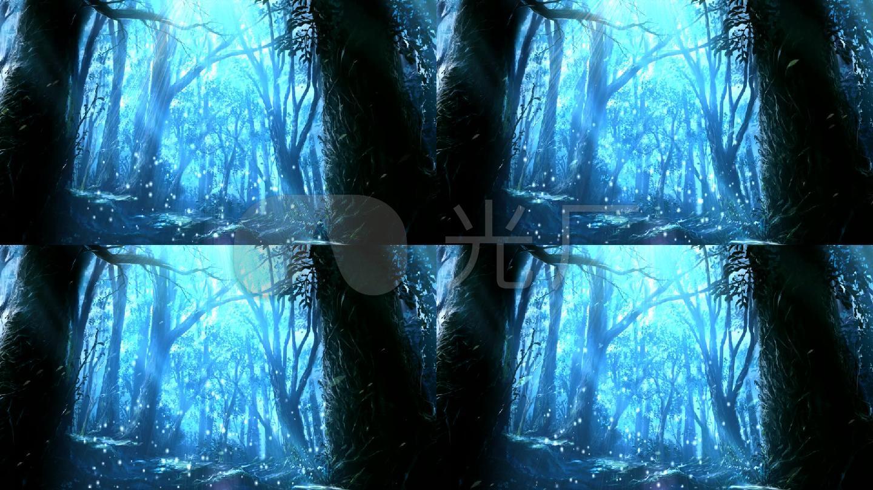 梦幻 粒子 树叶