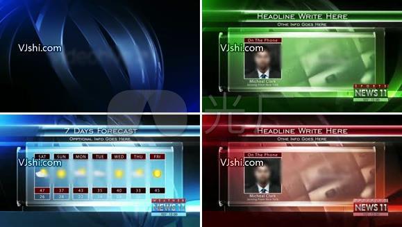 新闻电视栏目包装AE模板