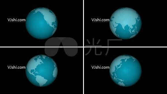 原创地球动态视频—带通道  无缝循环