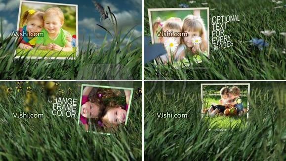 儿童成长视频相册AE模板
