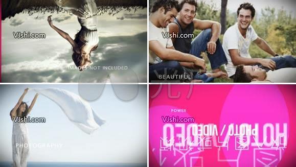 时尚风格图片视频幻灯展示效果AE模板