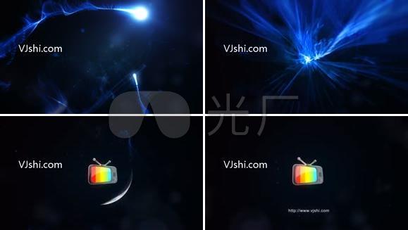 激烈彗星粒子碰撞Logo演绎AE模板