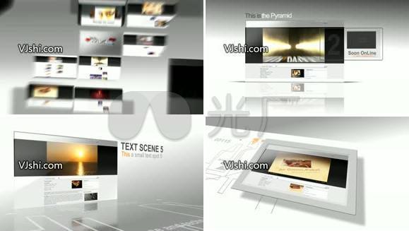 企业 简洁 网站展示宣传模板,含音频