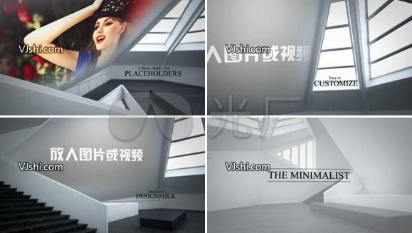 极简室内设计动画AE模板