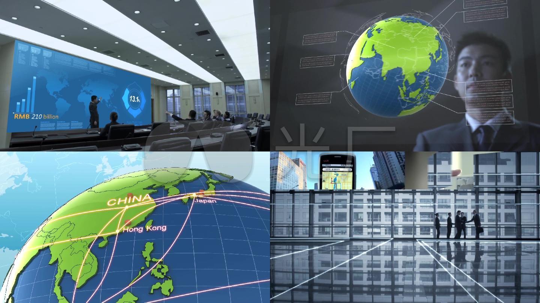 高清科技现代城市镜头一组中国地图北京