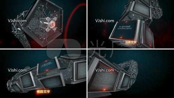 高科技屏幕展示栏目包装AE模板