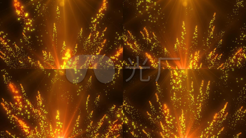 粒子发光飞舞视频素材