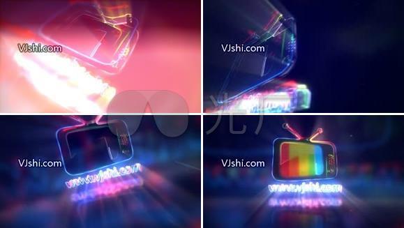 霓虹灯logo文字开场演绎AE模板