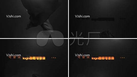光影效果logo文字演绎AE模板