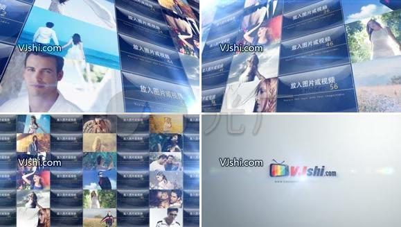 视频logo文字公司企业宣传展示AE模板