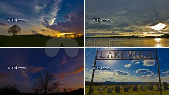延时拍摄天空美丽 云彩 大自然