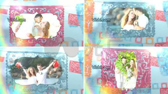 浪漫婚礼 AE片头模板