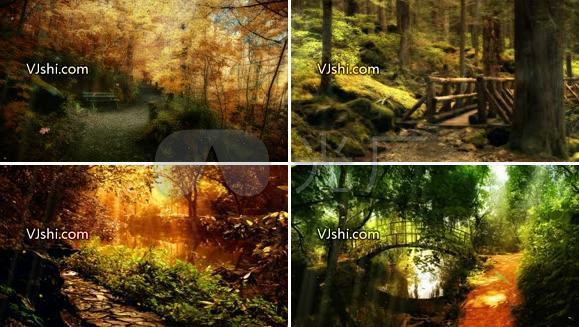 唯美森林演绎素材