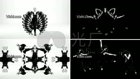 黑白艺术梦幻舞蹈
