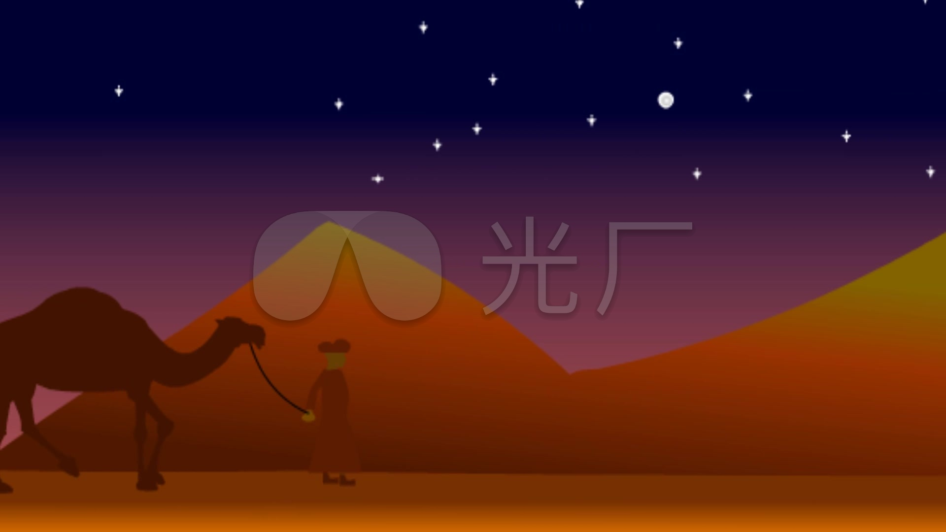 埃及金字塔沙漠骆驼图片