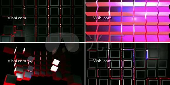 3D立方体组合变化光效矩阵灯光
