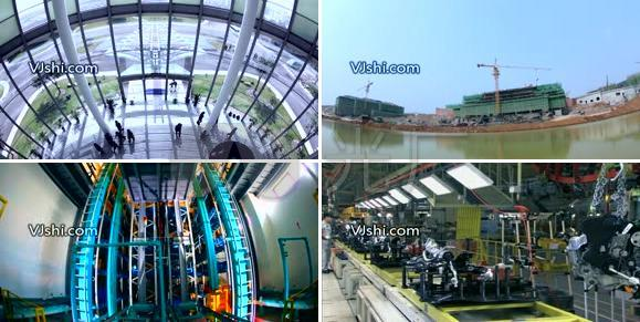 办公人物建筑工业生产一组