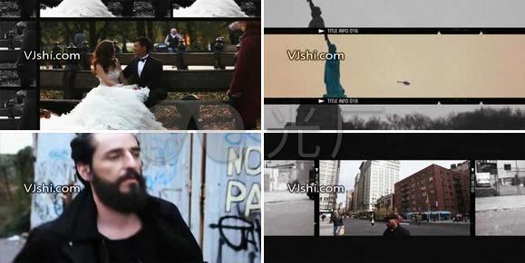 城市人物生活视频图文幻灯片展示AE模板