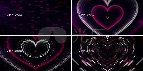 爱情心形动感视频