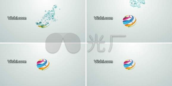 水花标志logo演绎ae模板