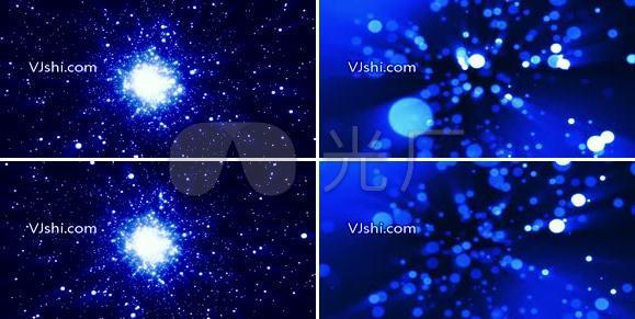唯美抒情蓝色星光粒子LED背景视频