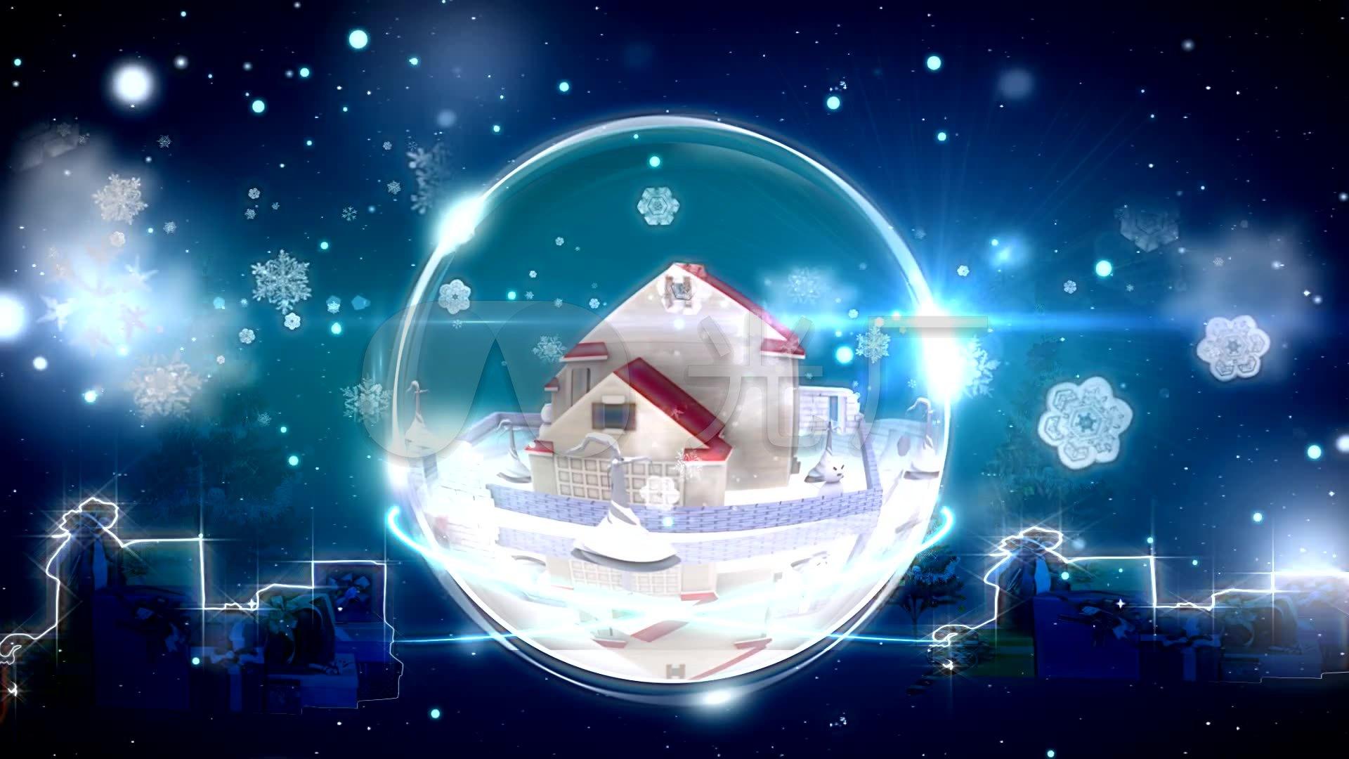 水晶 浪漫 飘雪 小屋 雪景 水晶球图片