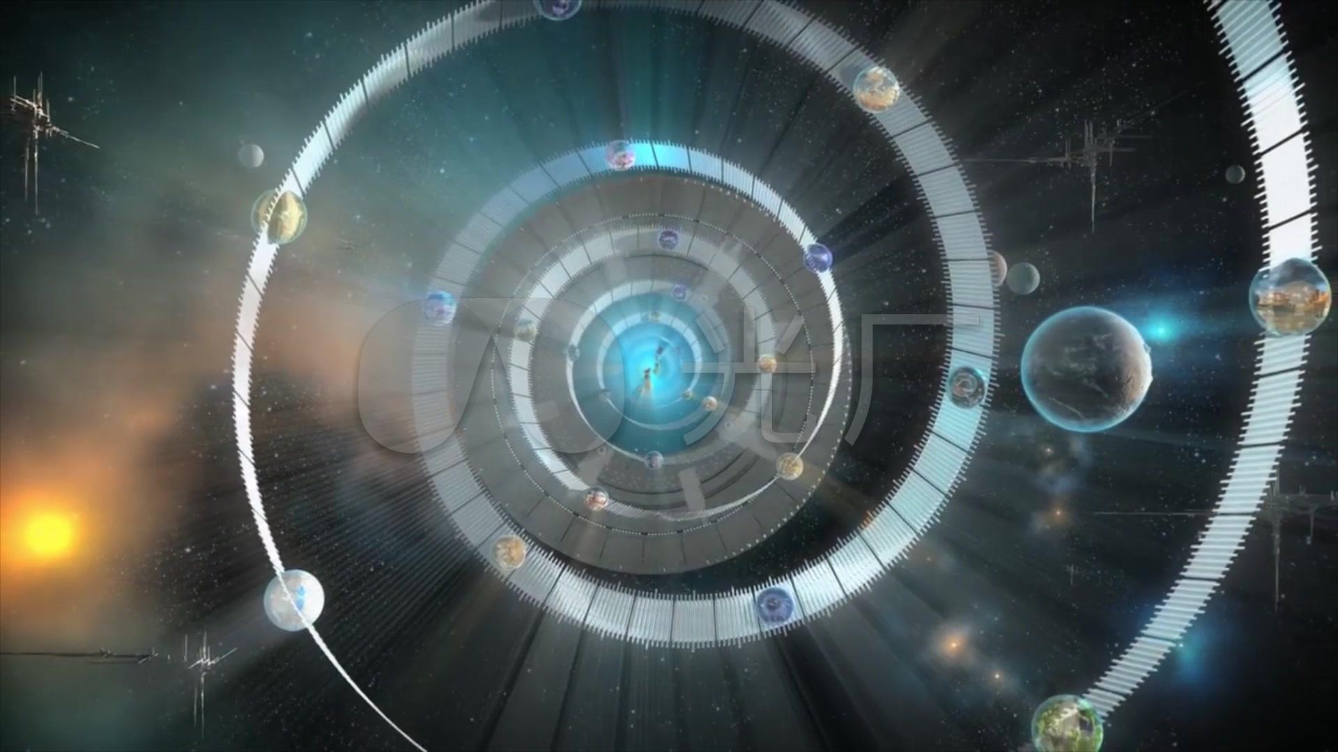 科幻宇宙星战外星人飞碟3d动画