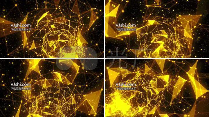 黄色点_黄色点线面粒子太空穿梭