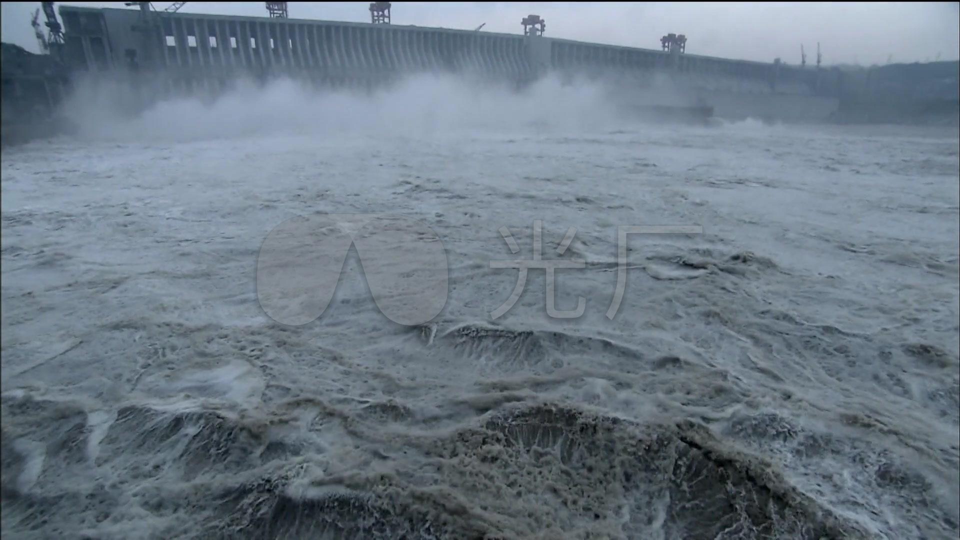 长江三峡大坝泄洪水利工程发电站v视频_1920X和视频教程球图片