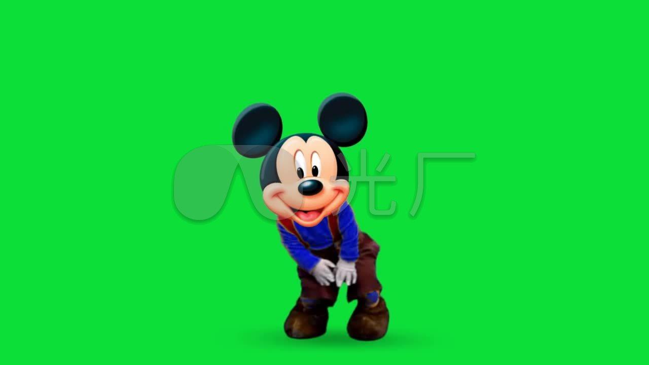 卡通米老鼠动画绿屏可抠像_1280X720_高清视