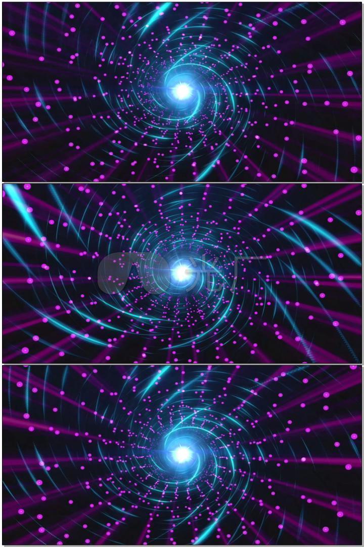 蓝色漩涡光线粉红色粒子