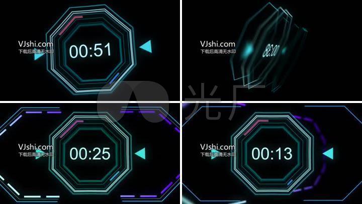 一分钟倒计时计时器,震撼音频视觉效果图片