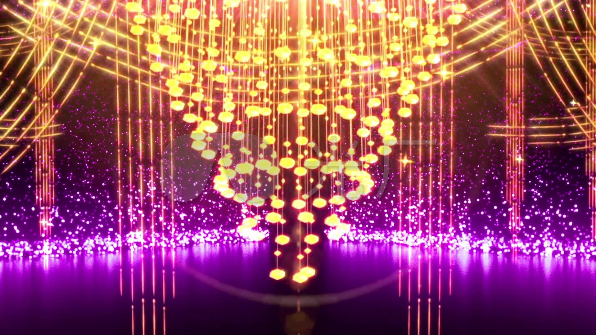视频素材 舞台背景 场景背景 唯美欧式皇宫宫殿水晶玻璃吊灯婚庆
