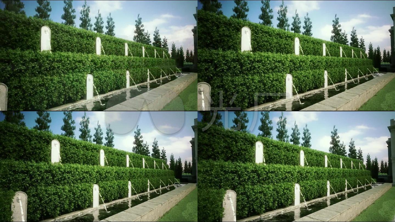 三维喷泉别墅青岛城阳景观金日唐郡图片