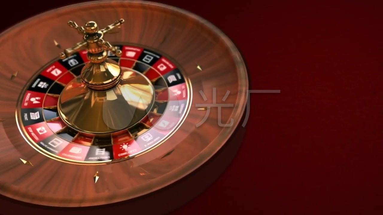 赌场下注大转盘筹码实拍视频素材