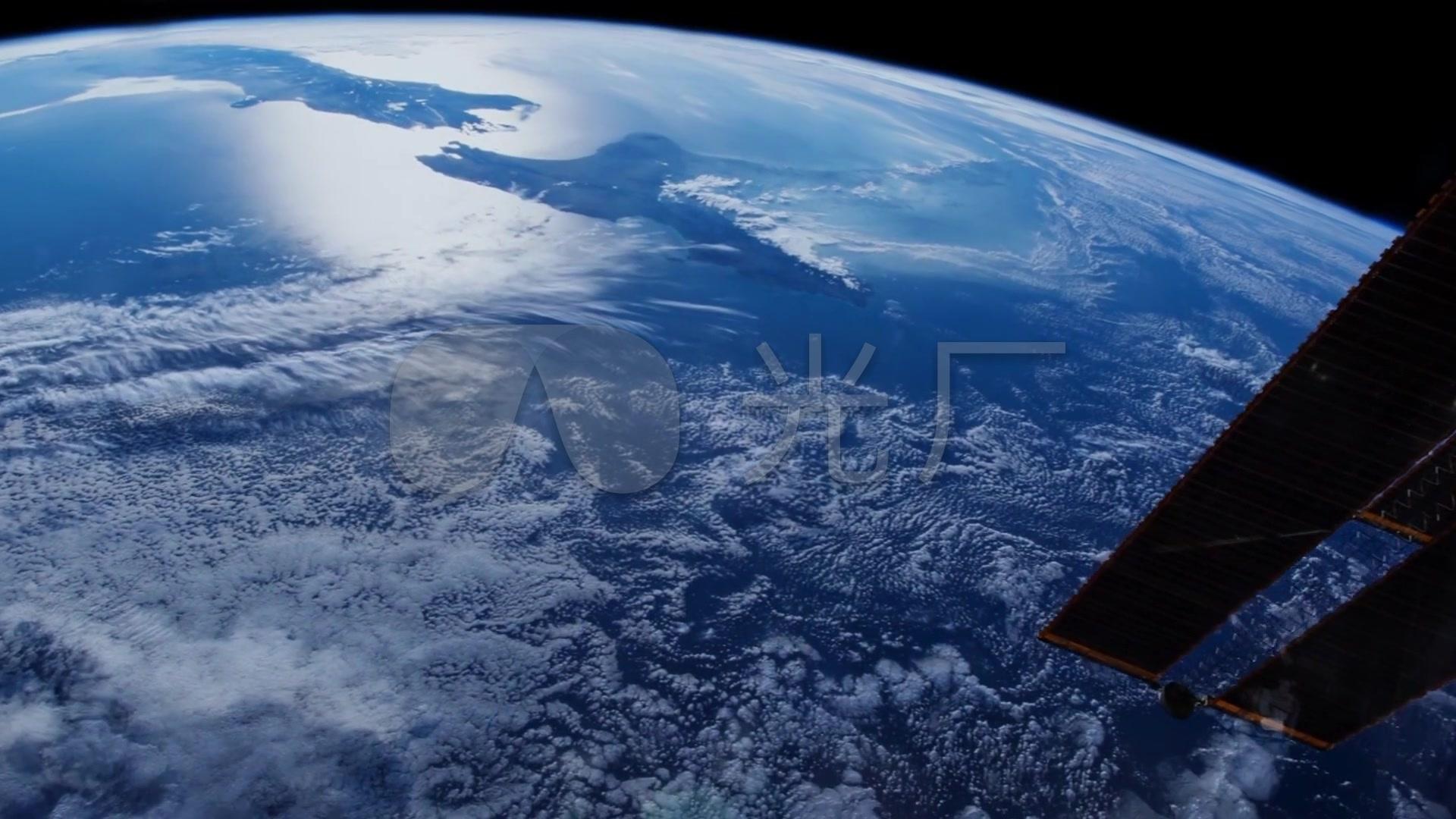地球航天飞机空间站实拍视频