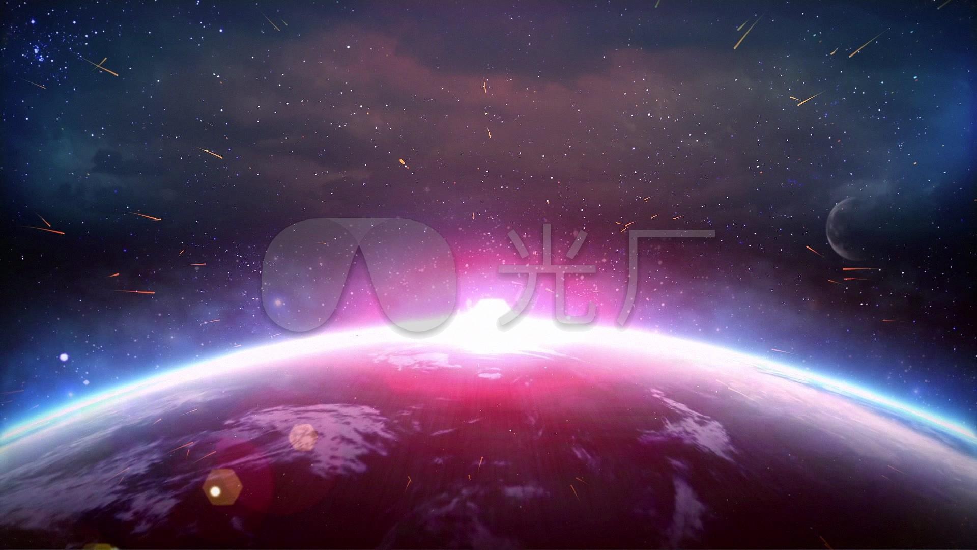 震撼雕像地球v雕像宇宙合成素材特效_1920X1视频视频制作图片